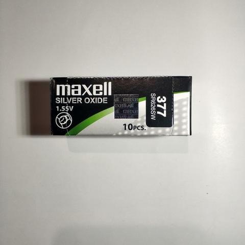 Батарейки часовые Maxell SR626SW-B1 (377) 1x10 Japan