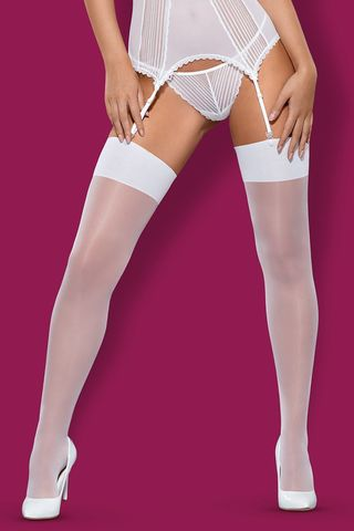 Белые чулки S 800 stockings White фото