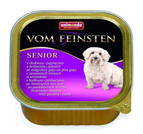 Консервы Animonda Vom Feinsten Senior с мясом домашней птицы и ягненком для взрослых собак старше 7 лет