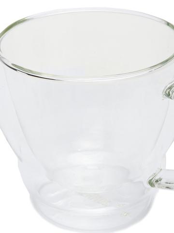Набор кружек из двойного стекла с блюдцем Thermos (2 шт. по 0,3 литра)