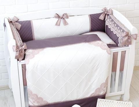 Комплект постельного белья в детскую кроватку с бортиками ROYAL