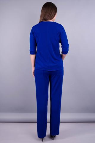 Фрида. Стильный костюм plus size для женщин. Электрик.
