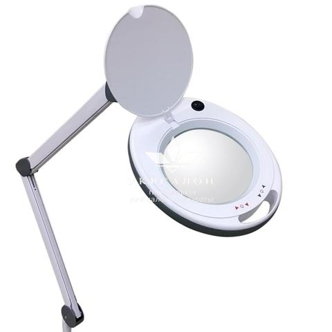 Лампа-лупа 6014 LED-3(5) с регулировкой яркости, холодный свет 1-12W