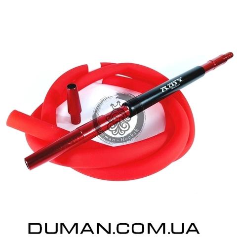 Комплект силиконовый шланг Soft-touch и алюминиевый мундштук AMY DeLuxe красный для кальяна