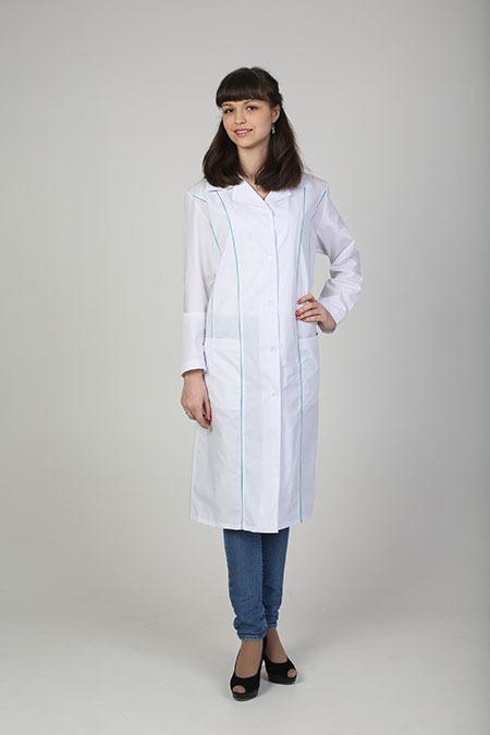 Выкройка медицинского халата с рельефами