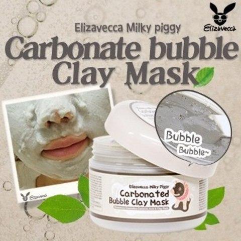 ELIZAVECCA Milky Piggy Маска для лица глиняно-пузырьковая Carbonated Bubble Clay Mask