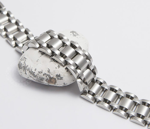 Широкий браслет из ювелирной стали (21 см)