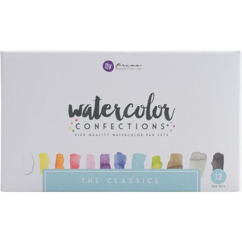 Акварельные краски Prima Marketing Watercolor Confections Watercolor Pans 12шт. - The Classics