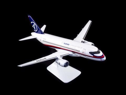 Модель самолета SSJ-100 (М1:72, ГСС)