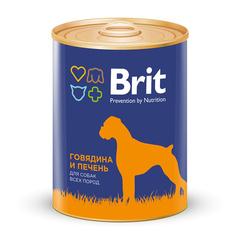 Brit Premium Говядина и печень, консервы для собак, 850г