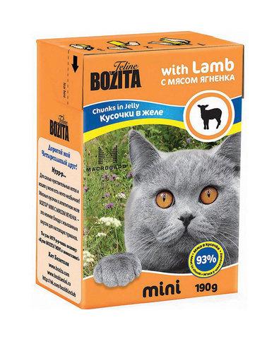 BOZITA консервы для кошек (кусочки в желе с мясом ягненка) 190 г