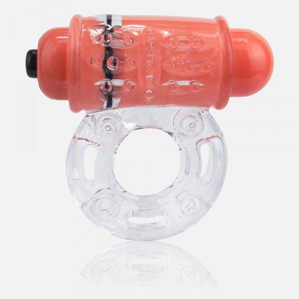 Эрекционные кольца: Неоновое оранжевое кольцо на пенис O wow!
