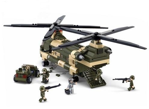Конструктор серия Армия Транспортный вертолет Чинук