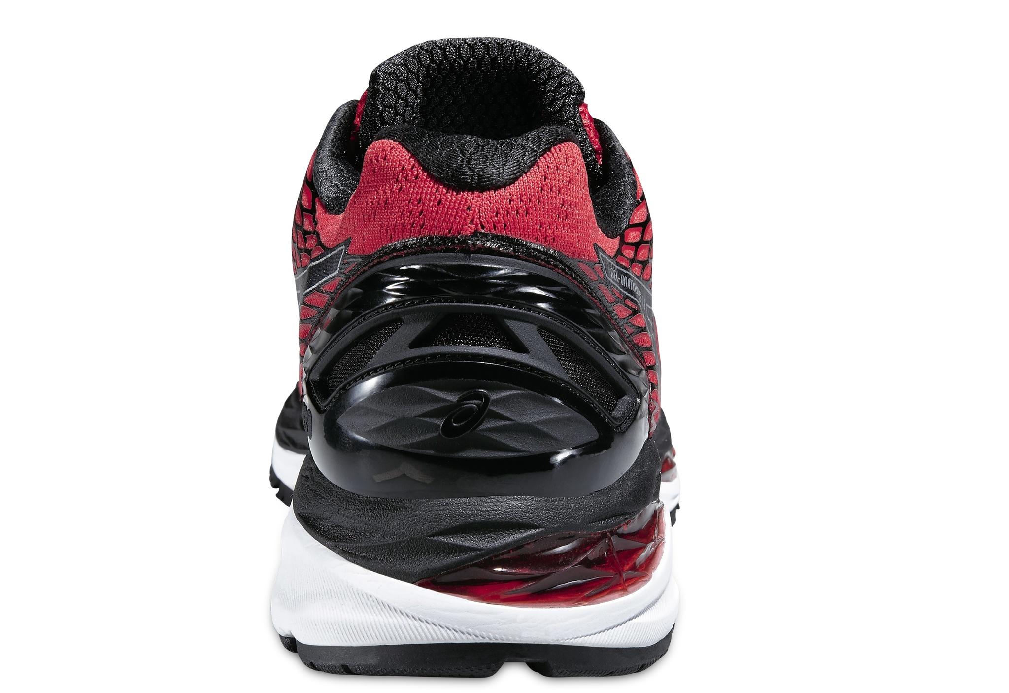 Мужские беговые кроссовки Asics Gel-Nimbus 18 (T600N 2390) красные фото пятка