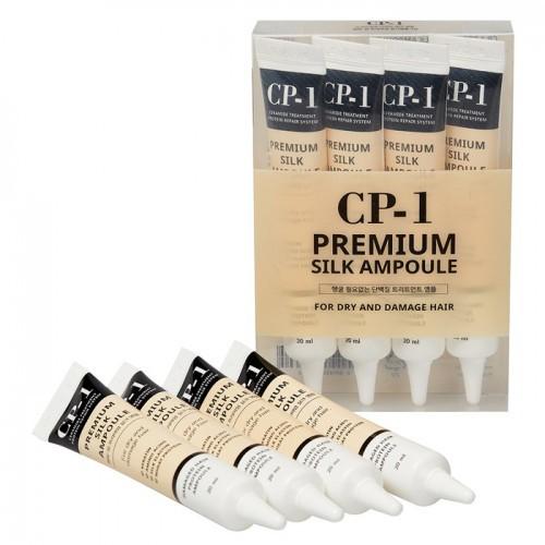 Esthetic House Несмываемая сыворотка для волос с Протеинами шелка CP-1 Premium Silk Ampoule, 4*20 мл