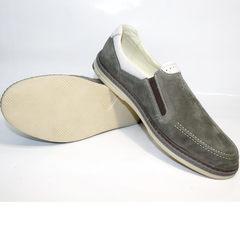 Мужские туфли лоферы IKOC 3394-3 Gray.
