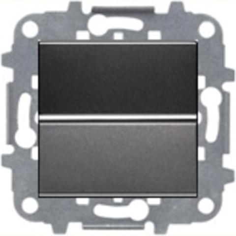 Выключатель одноклавишный. Цвет Антрацит. ABB Niessen Zenit. N2201 AN+N2271.9