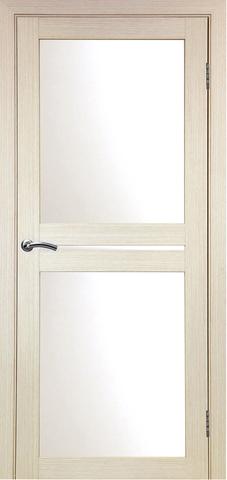 > Экошпон Optima Porte Турин 520.222, стекло матовое, цвет беленый дуб, остекленная