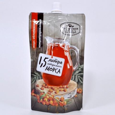 Морс облепиховый концентрированный Ягода сибирская, 200мл