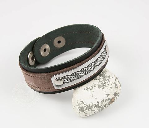 BL457-1 Классный мужской браслет ручной работы из кожи с гравировкой
