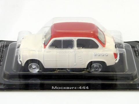 Moskvich-444 1957-1959 white-red 1:43 DeAgostini Auto Legends USSR #235
