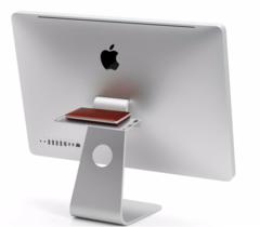 Универсальная небольшая полка Twelve South BackPack для iMac (крепится на ножке). Цвет серебряный
