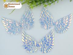 Декор крылья с переливом большие белые