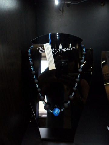 Комплект украшений Monte Amiata черно-голубой