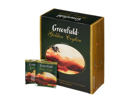 Greenfield Golden Ceylon, 100 пак/уп