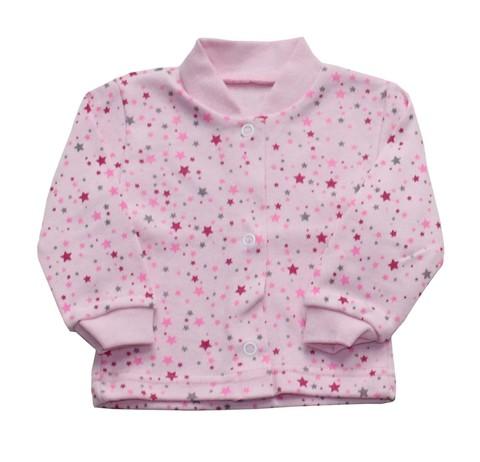 Русь 17-106н Кофточка ясельная на кнопках розовая