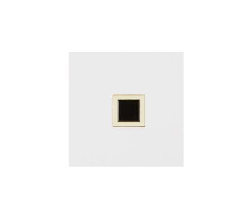 Значок металлический Черный квадрат