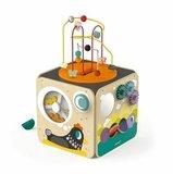 Janod. Куб развивающий с комплектом игр: 8 видов активностей