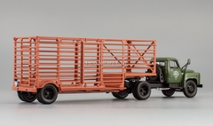 GAZ-52-06 semitrailer for carriage of packagings agricultural khaki DIP 1:43