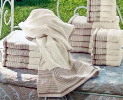 Набор полотенец 2 шт Caleffi Ischia натуральный