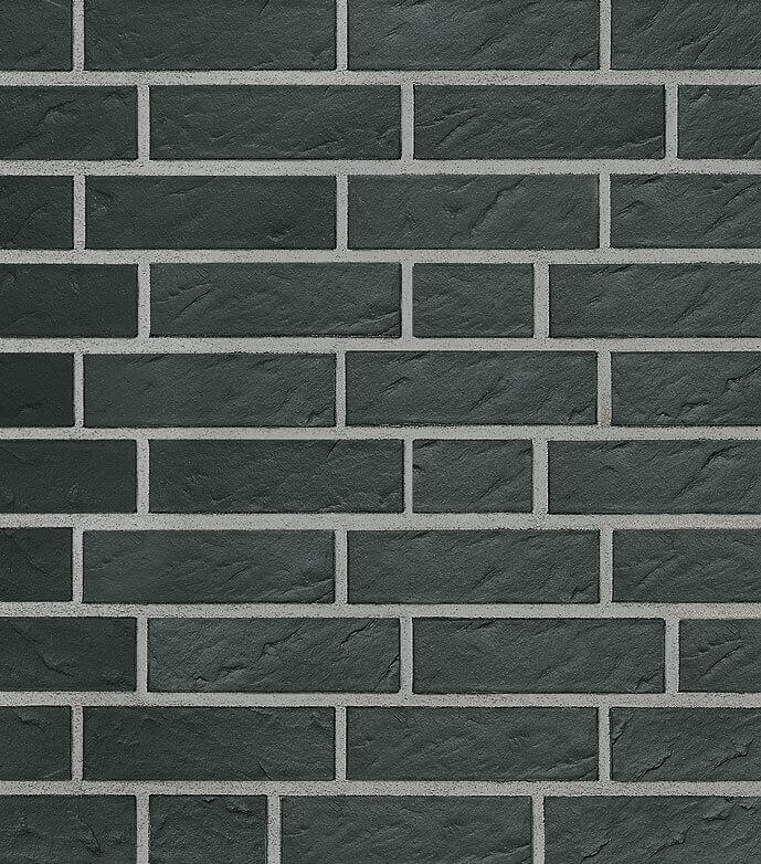 Фасадная плитка Roben, Faro, цвет черный с оттенком (schwarz-nuanciert), рифленая (geschiefert)