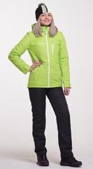 Женский утеплённый прогулочный лыжный костюм Nordski Active Lime-Black