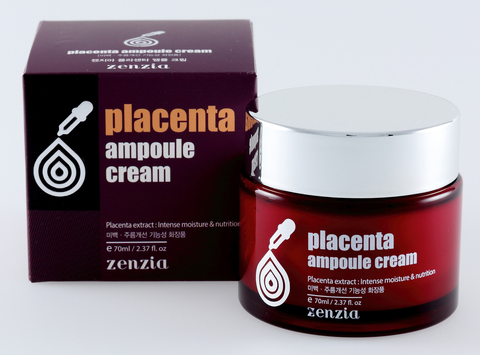 ZENZIA Плацентарный крем для лица Placenta Ampoule Cream (70мл)