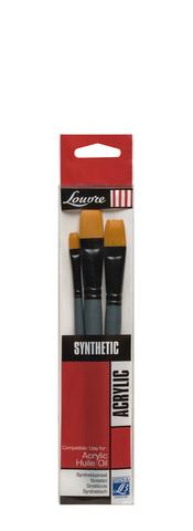 Набор кистей Lefranc&Bourgeois Louvre 3 шт [№8, 16, 24], синтетика, короткая ручка