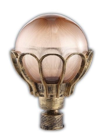 Светильник садово-парковый, 60W 220V E27 черное золото , IP44 , PL5043 (Feron)