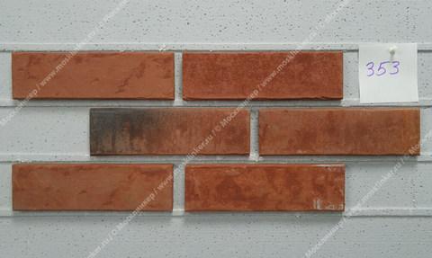 Stroeher, фасадная клинкерная плитка, цвет 353 eisenrost, серия Zeitlos, состаренная поверхность, ручная формовка, 400x71x14