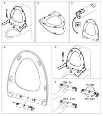 Подсветка для сиденья Jacob Delafon Nouvelle Vague (доп.опция) E20915-CP схема установки