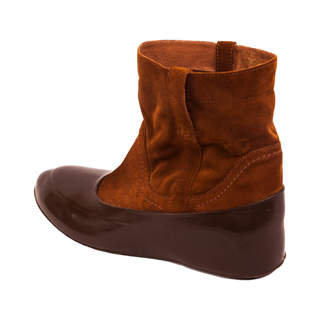 Женские галоши на обувь коричневые