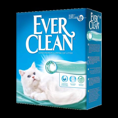 Ever Clean Aqua Breeze Scent Наполнитель для туалета кошек с ароматом морской свежести комкующийся