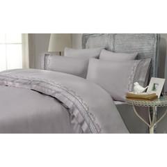 Постельное белье Gelin Home MIMOZA серый евро