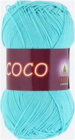 Пряжа Coco (Vita cotton) 3867 Светлая зеленая бирюза