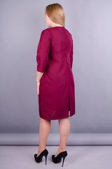 Вирта. Универсальное платье больших размеров. Бордо.