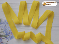 Резинка бейка трикотажная желтая 16 мм