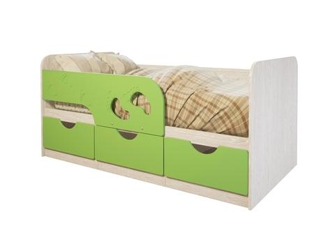 Кровать Минима Лего БТС дуб атланта/лайм глянец