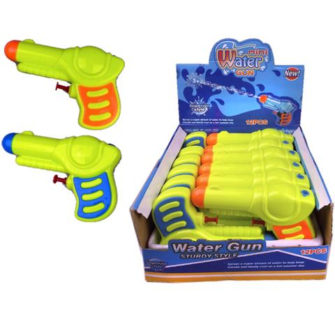 Водный пистолет разноцветный, 1кор*1бл*12шт.
