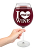 Бокал для вина i love more wine 750 мл